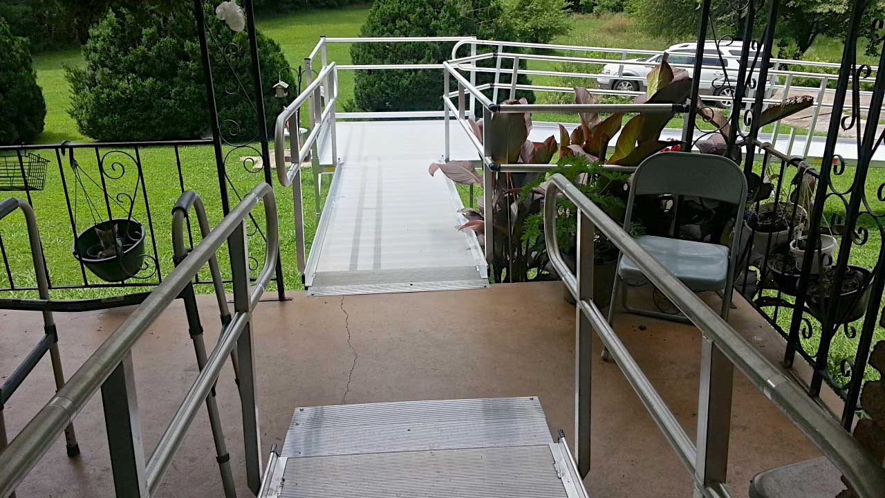Multiple ramp system installed at home