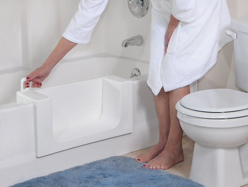 Safeway step-in tub installed at home