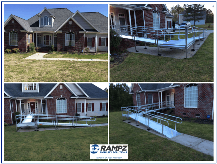 L-shaped ramp installed in Roanoke Rapids, NC.