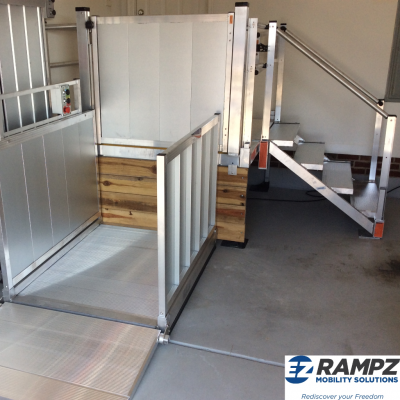 VPL installed with stair system attached