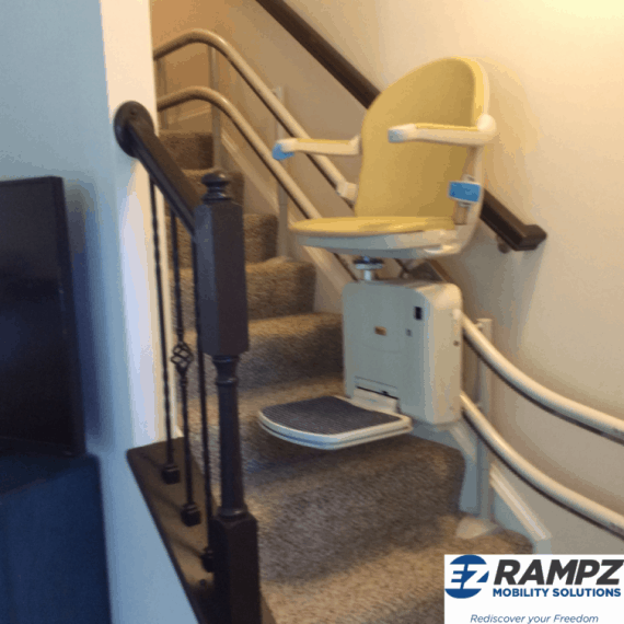 Stairglide moving up staircase