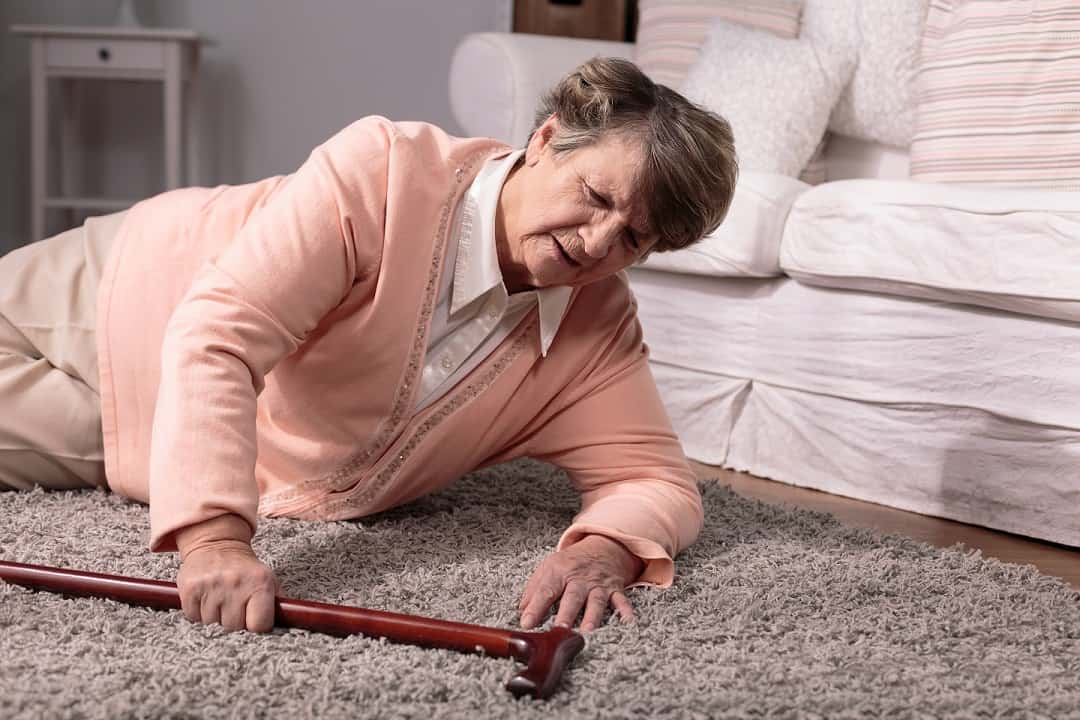 Elderly experiencing a fall