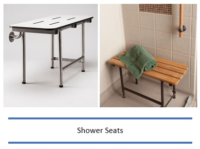 Shower bench and seats