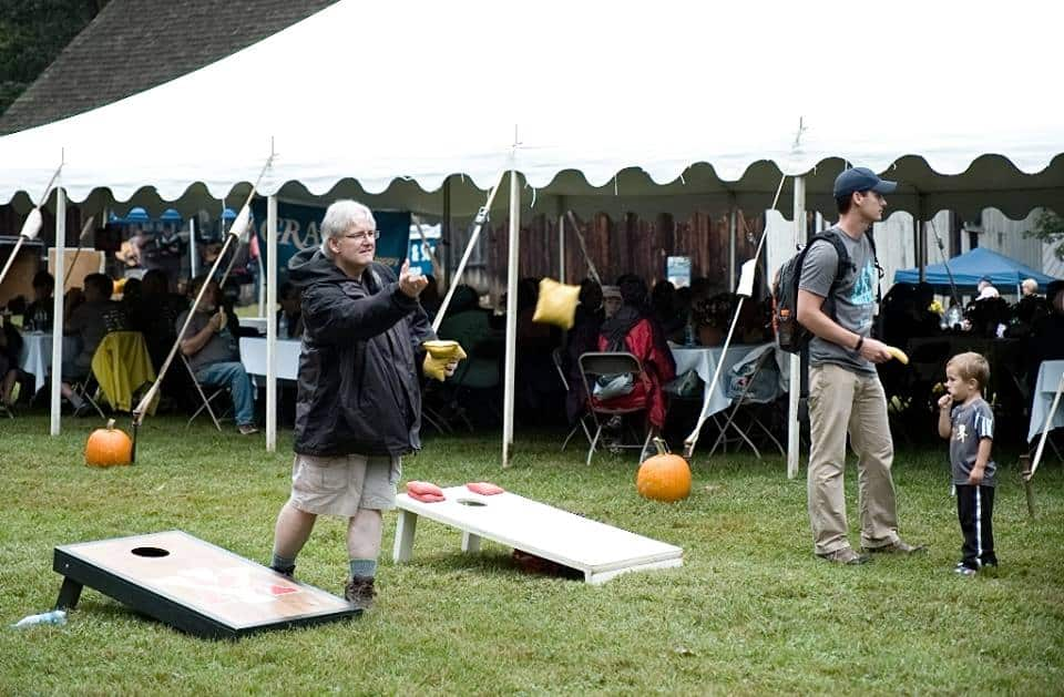 Cornhole at the 2018 Hike for Hospice event